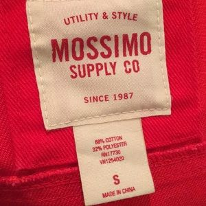 Mossimo Supply Co. Jackets & Coats - Cropped Red Jean Jacket